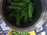Risi e bisi coi baccelli - Fresh pea risotto with pea pod broth