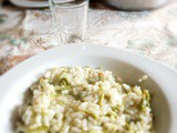 Risotto with hop shoots step by step