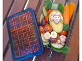 Salad bento with quail eggs and the big Avondale spider
