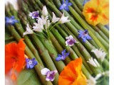 Spring Asparagus Salad, and yes you can eat the flowers too