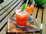 """Use Your Melon"" for nz watermelon month: Watermelon juice with lemongrass and mint"