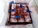 Vegan chocolate brownie... and remember Sweet New Zealand, 3 days to go