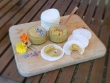 Vegetable Pâté with Salted Butter served with Daikon Slices and Edible Flowers