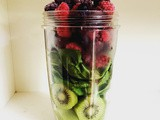 Vitamin smoothie: Kiwi, spinach and berries - and a few of my favourite things right now