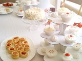 White and Red Party Table
