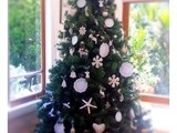 White and sugar Christmas tree