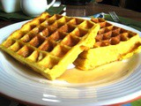 Buttermilk Waffles in my new belgian waffle iron
