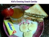 Apple Juice & Mint Chutney Sandwich - Kids Evening Snack Combo