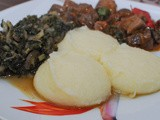 Ugali/Sima na Sukuma Wiki – Cornmeal mush with Collard Greens