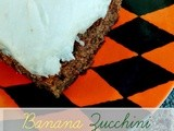 Banana Zucchini Cake with Browned Butter Frosting