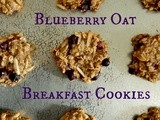 Blueberry Oat Breakfast Cookies