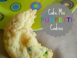 Cake Mix funfetti Cookies