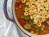 Cheese Tortellini Minestrone Soup