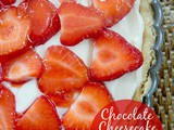 Chocolate Cheesecake Strawberry Tart