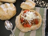 Chunky Beer Chili in Homemade Bread Bowls