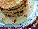 Healthy Greek Yogurt Oatmeal Pancakes
