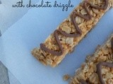 Homemade Peanut Butter Granola Bars {with a chocolate drizzle!}