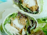 Honey Dijon Crunchy Chicken Wraps