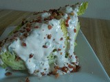 Iceberg Wedges with Homemade Ranch Dressing