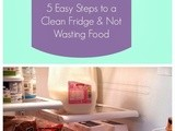 Operation Fridge Clean-Out: 5 Easy Steps to a Clean Fridge & Not Wasting Food
