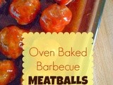 Oven Baked Barbecue Meatballs