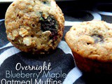 Overnight Blueberry Maple Oatmeal Muffins + Cookbook Giveaway