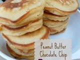 Peanut Butter Chocolate Chip Pancake Dippers