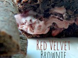 Red Velvet Brownie Ice Cream Sandwiches