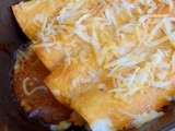 Spicy Buffalo Chicken Enchiladas