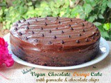 Vegan Chocolate Orange Cake (Wholegrain)