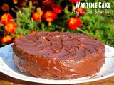Wartime Cake | Cake-Pan Cake (Egg less, Butter free and Low Calorie)