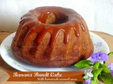 Banana Bundt Cake with Caramel Glaze