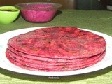 Beet and fenugreek paranthas - colourfully healthy and sumptuous