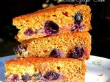 Black Grape Cake - Egg less and Butter free