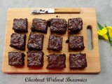 Chestnut Walnut Brownies (Gluten Free)