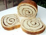 Cinnamon swirl loaf - two way (with butter and eggs and without)