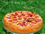 Fresh Strawberry Cake (With Whole Wheat Flour)