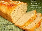 Honey Whole Wheat and Oats Quick Bread