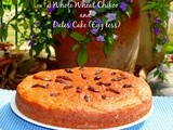 Low Fat Whole Wheat Sapodilla (Chikoo) Date Cake (Egg less)