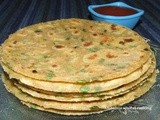 Oats and spring onion parantha