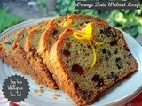 Orange Date Walnut  Loaf - Egg less, Wholegrain and Low fat
