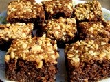 Peanut Brownies (Whole Wheat and  Egg less)