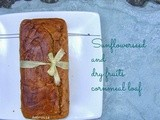 Sunflower seed and Dry fruits Cornmeal loaf (egg less and butter free)