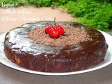 Vegan Whole Wheat Cherry Chocolate Cake with Chocolate Glaze | Vegan Baking