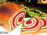 Whole Wheat Beet And Spinach Swirl Bread | Holi Bread (Vegan)