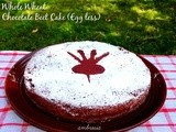 Whole Wheat Beet Chocolate Cake (Egg less)