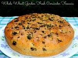 Whole Wheat Garden Fresh Coriander Focaccia | Vegan Baking