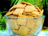 Whole Wheat Sesame Crackers (Vegan) - Healthy Snacking