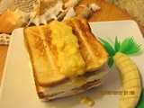 Grilled Banana Ice Cream Sandwich
