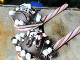 Candy Cane Hot Cocoa Bombs